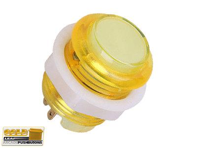 Super Silent Gold-Leaf 5V Led Drukknop 27mm, Boormaat 24mm Geel