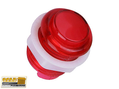 Super Silent Gold-Leaf 5V Led Drukknop 27mm, Boormaat 24mm Rood