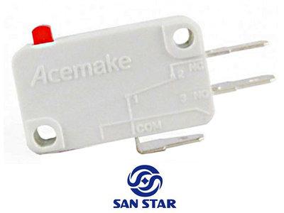 Acemake 150gr. Microswitch met 4.8mm Aansluitterminals NO/NC/COM