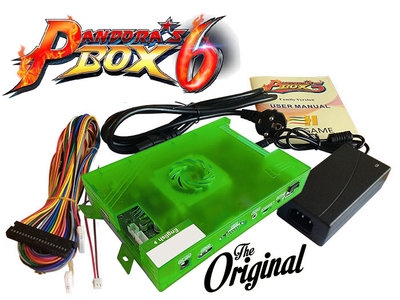 Pandora's Box 6 1300-in-1 Family Edition Arcade Classics Game PCB Set + Harnas + Voeding