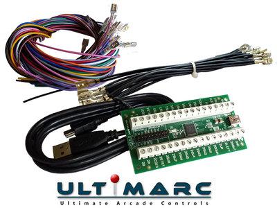 Ultimarc IPAC 2 USB Keyboard Encoder Interfase Inclusief Aansluitset