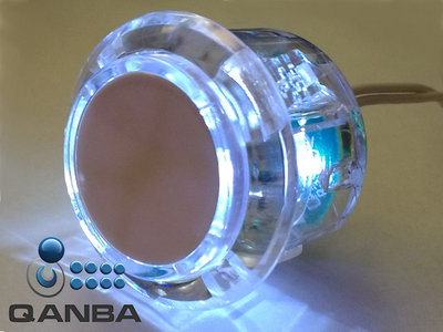 QANBA 30MM Crystal Clear Snap-in Drukknop met Witte Led