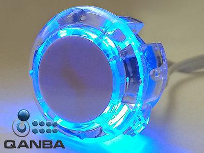 QANBA 30MM Crystal Clear Snap-in Drukknop met Blauwe 5V Leds