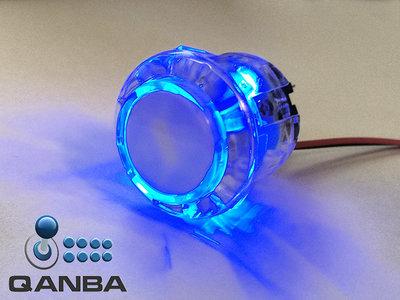 QANBA 24MM Crystal Clear Snap-in Drukknop met Blauwe 5V Leds