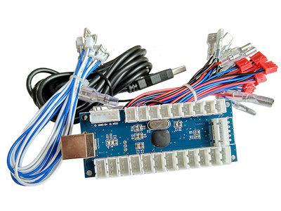 1-Player 5V Led Encoder Board voor Arcade PC Raspberry Pi 12x 4,8mm joystick & button connectors