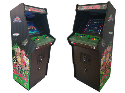 Ultimate 2-Player Multicade Arcade Kast / Up-Right Cabinet 'Sunburst Green'