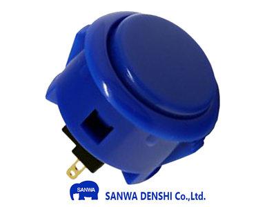 Sanwa OBSF-30 Donker Blauw Snap-In Arcade Drukknop