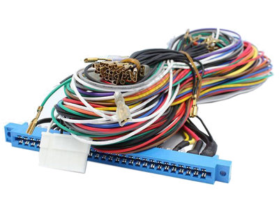 Originele 2-Player JAMMA+ HQ Kabelboom/Harnas 56-pins voor 4,8mm Joystick & 2,8mm Buttons per speler