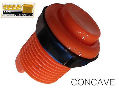 HQ Super Silent Concave Classic Gold-Leaf Arcade Drukknop Oranje