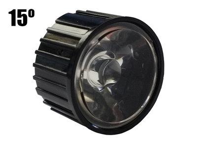15 Graden PMMA Reflector Lenskap voor 1W 3W 5W High Power Leds Zwart