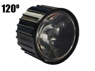 120 Graden PMMA Reflector Lenskap voor 1W 3W 5W High Power Leds Zwart