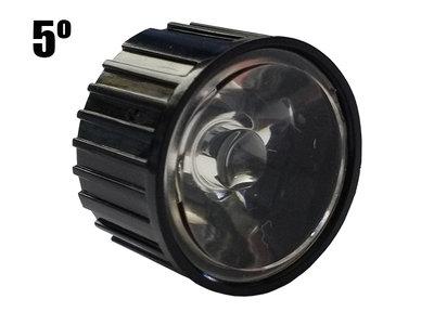 5 Graden PMMA Reflector Lenskap voor 1W 3W 5W High Power Leds Zwart