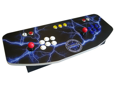 2-Player Premium Arcade 'MAME Lightning Strike Blue' Game Console Box met 10.000+ Games!