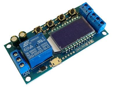 5V USB (3-24V/DC) 1 sec ~ 9999 min LCD Display Tijdrelais 250V/AC 30V/DC 10A