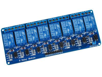 8 kanaals 5V Relais Module Board Optocoupler Relay voor o.a. Arduino, Raspberry Pi, pcDuino