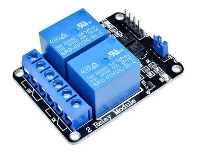 2 kanaals 5V Relais Module Board Optocoupler Relay voor o.a. Arduino, Raspberry Pi, pcDuino