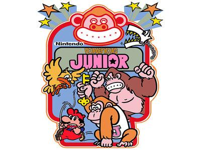 Donkey Kong Jr. Vinyl Stickerset XL 51x44cm