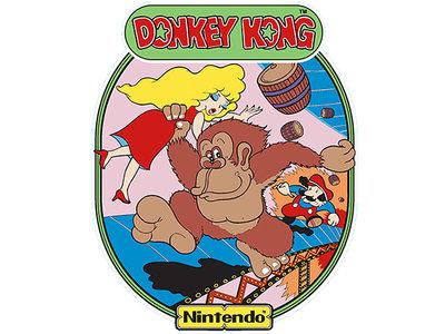 2x Donkey Kong Side Art Vinyl Stickerset XL 50x40cm