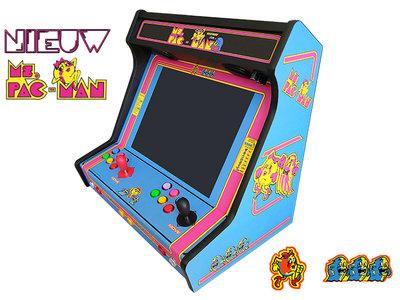 Ms. Pac-Man Wide Body Premium 2-player Bartop 10.000+ games!