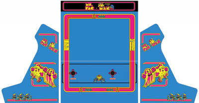 Wide Body Bartop Vinyl Stickerset 'Ms. Pac-Man'