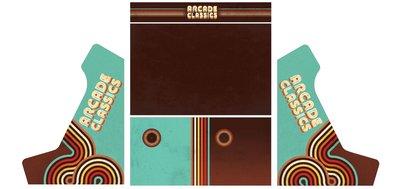 Wide Body Bartop Vinyl Stickerset 'Arcade Classics'