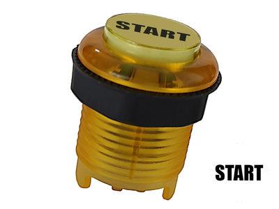 """Silent """"Start"""" 5V Gold-Leaf Led Arcade Drukknop Geel"""
