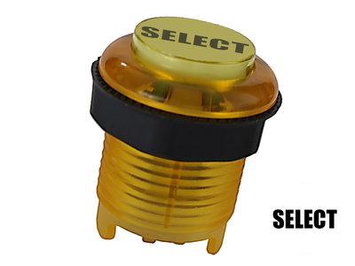 """Silent """"Select"""" 5V Gold-Leaf Led Arcade Drukknop Geel"""